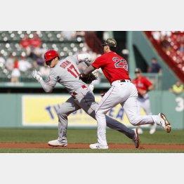 16日のレッドソックス戦は走塁ミスが響いた大谷(C)ロイター/USA TODAY Sports