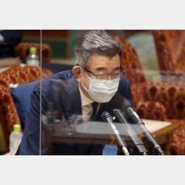 現場の声はスルー、釈明する武田良太総務相(17日、参院予算委)/(C)日刊ゲンダイ