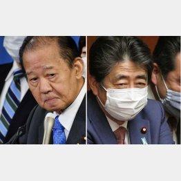 もともと河井案里元参院議員を担ぎ出したのも安倍前首相だけに…(左は自民党の二階幹事長)/(C)日刊ゲンダイ