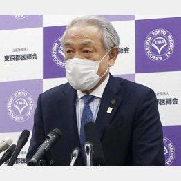 新規感染者数は100人以下にすること(東京医師会の尾崎治夫会長)/(C)共同通信社