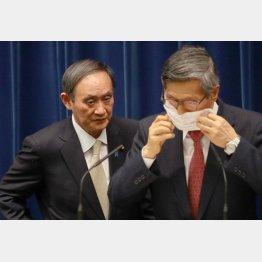 何が何でも五輪開催強行、自身のアドバイザー集団切り捨てに(菅首相と分科会の尾身会長)/(C)JMPA