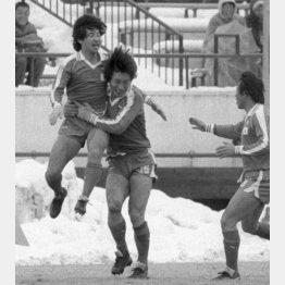 1984年1月のゼロックス・サッカー、日本代表対コリンチャンス戦(C)共同通信社