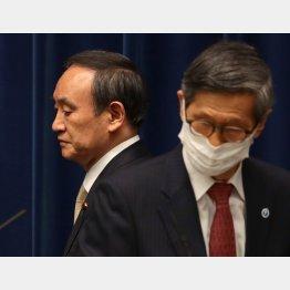 尾身会長(右)は「日本のファウチ」になれるのか(C)JMPA