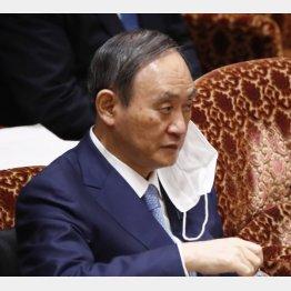 ペッパー君より語彙力の乏しい菅義偉首相(C)日刊ゲンダイ