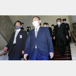 国会はサッサと幕引き(菅首相)/(C)日刊ゲンダイ