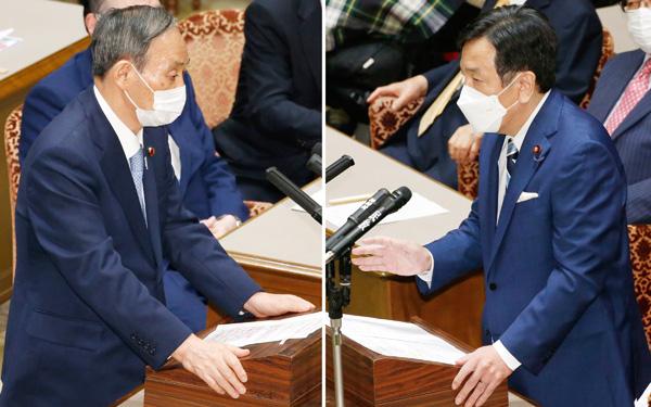 党首討論での菅首相と枝野立憲民主代表(C)日刊ゲンダイ
