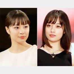 広瀬すず(左)と橋本環奈(C)日刊ゲンダイ