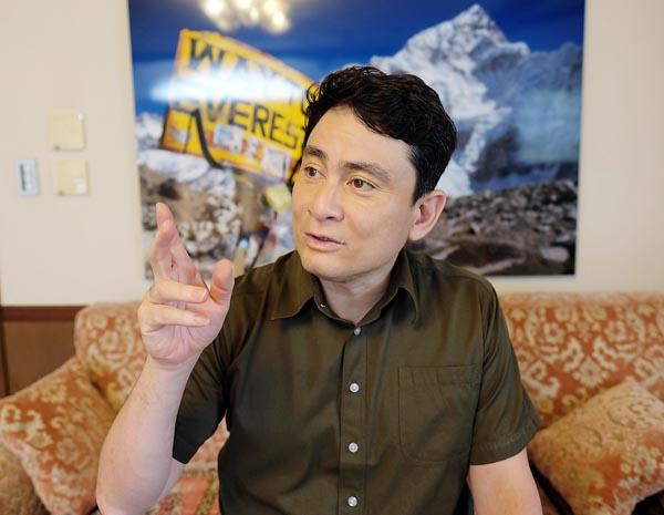 登山家、環境活動家の野口健氏(提供写真)