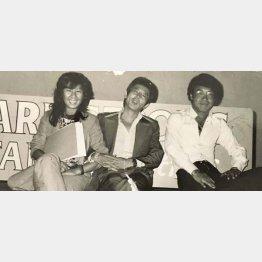 左から山口洋子、野口修、五木ひろし(1970年代)/(提供:細田昌志氏)