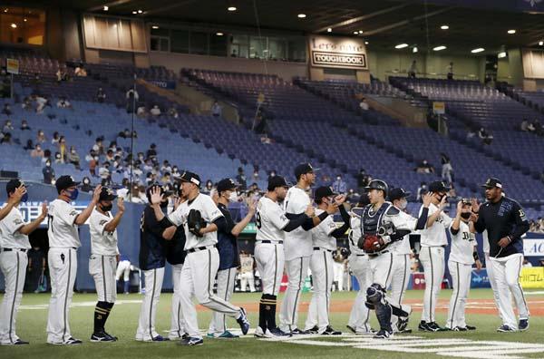 23日、オリックスが37年ぶりに11連勝した京セラドームでも9試合が行われる(C)共同通信社