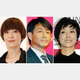 (左から)宮沢りえ、吉田栄作、草刈民代(C)日刊ゲンダイ