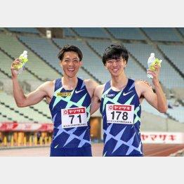 代表が内定した山県(左)と多田(C)日刊ゲンダイ