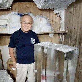 親子2代続く氷屋(目白)氷柱を3本載せた父親のリヤカーを押して町内を回った少年時代