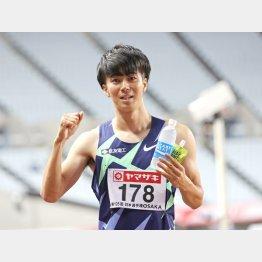 100メートルで優勝した多田(C)日刊ゲンダイ