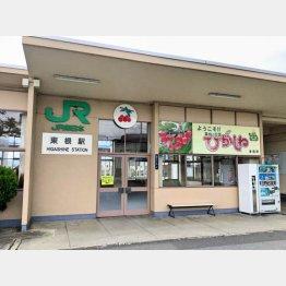 人けの少ない東根駅(C)日刊ゲンダイ