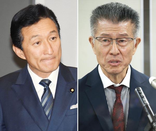 ワタミの渡辺美樹会長(左)とグローバルダイニングの長谷川耕造社長(C)日刊ゲンダイ