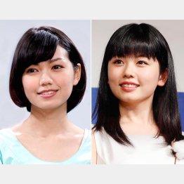 二階堂ふみ(左)と小芝風花(C)日刊ゲンダイ