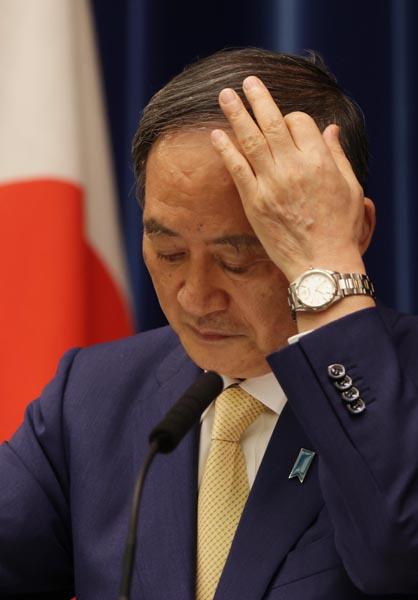 コロナ対策大失敗、五輪はゴリ押し…(菅首相)/(C)日刊ゲンダイ