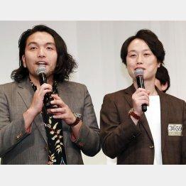 お笑いコンビ「見取り図」の盛山晋太郎(左)とリリー(C)日刊ゲンダイ