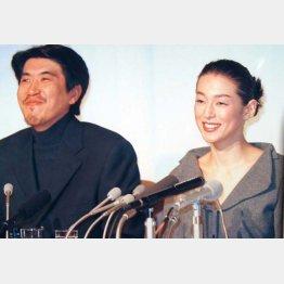 結婚会見(1998年)/(C)日刊ゲンダイ