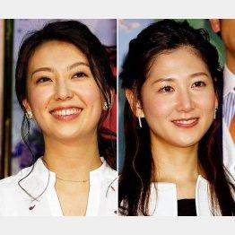 NHKの和久田麻由子アナウンサー(左)と桑子真帆アナウンサー(C)日刊ゲンダイ