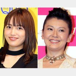 川口春奈(左)と南野陽子(C)日刊ゲンダイ