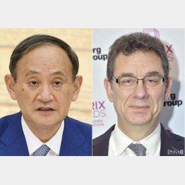 ようやく菅首相は米ファイザー製薬首脳(ブーラCEO)と面会(C)共同通信社