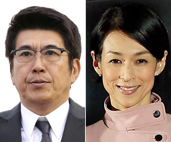 石橋貴明(左)と鈴木保奈美(C)日刊ゲンダイ