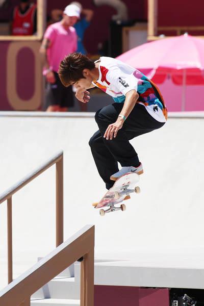スケートボード初代王者になった堀米雄斗(C)JMPA
