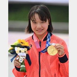 西矢椛は13歳で金メダル!(C)JMPA