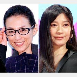 鈴木保奈美(左)と篠原涼子(C)日刊ゲンダイ
