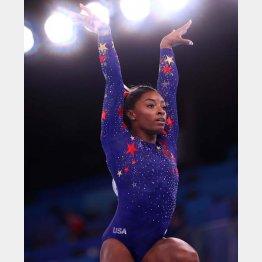 米女子体操代表のシモーン・バイルス選手は主張する(C)ロイター
