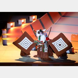 23日の東京五輪開会式では歌舞伎十八番の演目「暫(しばらく)」を披露した市川海老蔵(C)JMPA