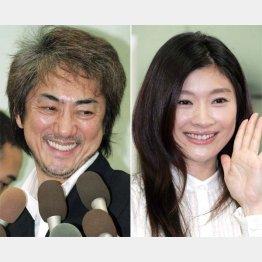 市村正親(左)と篠原涼子(C)日刊ゲンダイ
