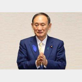 もはや神頼みか(菅首相)/(C)日刊ゲンダイ