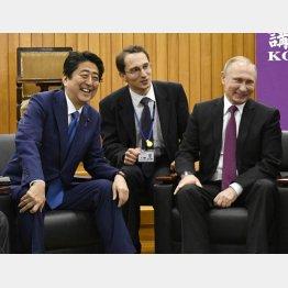 交渉膠着に業を煮やした(安倍前首相とプーチン露大統領)/(C)日刊ゲンダイ