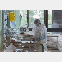 重症患者に対応する看護師(C)共同通信社