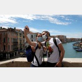 イタリア・ベネチアの観光客(C)ロイター