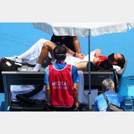「死ぬかもしれない」(テニス・男子シングルスのメドベージェフ選手)/(C)ロイター