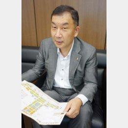 「八重洲地下街」専務の丹羽亨さん(C)日刊ゲンダイ