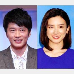 新型コロナ感染が報じられた田中圭(左)と永野芽郁(C)日刊ゲンダイ