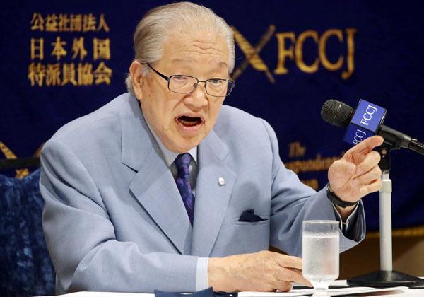 横浜港ハーバーリゾート協会の藤木幸夫会長(C)日刊ゲンダイ