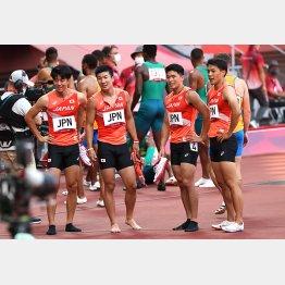 予選を通過した日本代表の左から多田、桐生、小池、山県(C)JMPA