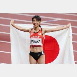 「入賞で国旗というのは恐縮するが、新しいことができた自分へのご褒美です」(C)真野慎也/JMPA