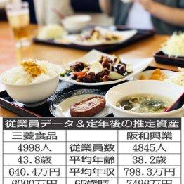 三菱食品×阪和興業 食卓を彩る食品の卸会社2社の生涯給与を比較