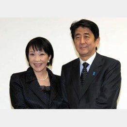高市元総務相(左)はアベノミクス路線継承とバージョンアップを掲げて総裁選に(C)日刊ゲンダイ
