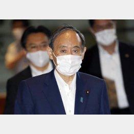菅首相は総裁選不出馬を表明(3日、午前)/(C)共同通信社
