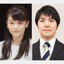 眞子さま(左)と小室圭さん(C)共同通信社
