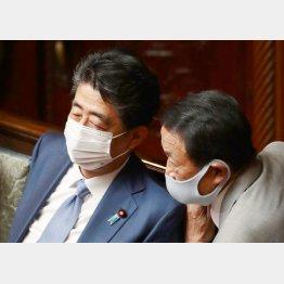 安倍前首相と麻生元首相(C)日刊ゲンダイ