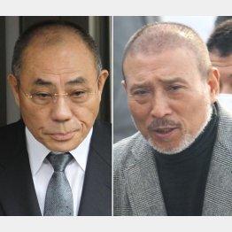 (左から)神戸山口組の井上邦雄組長、6代目山口組の司忍組長(C)日刊ゲンダイ